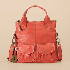 Fossil Modern Cargo Small Foldover, in rose
