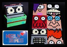 Futurama coaster set perler beads by Kezly Beads