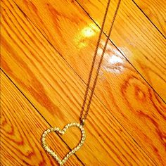 ⭐️Diamond Heart Necklace ⭐️ Used once very nice silver heart with diamonds around the heart . Great to use to dress up . The length is up to the middle of your chest. Very nice ⭐️ Wet Seal Accessories
