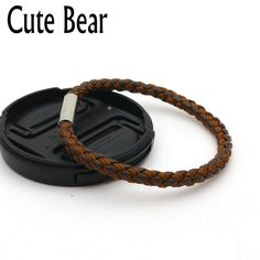 Cute Bear Brand New Leather Bracelet Men Women Stainless Steel Hidden Safety Clasp Brown Black Braided Leather Bracelets Jewelry. Yesterday's price: US $1.00 (0.82 EUR). Today's price: US $3.99 (3.29 EUR). Discount: 0%.