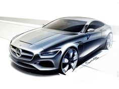 Mercedes-Benz S-Class Coupe Concept - Design Sketch