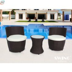 UK deal for just from (from Viron Motors) for a three-piece vase torpedo rattan set - select from three colours and save BUY NOW for just Rattan Garden Furniture Sets, Outdoor Furniture Sets, Outdoor Decor, Bali, Cool Things To Buy, Things To Come, Uk Deals, Best Shopping Sites, Home And Garden