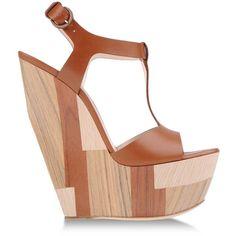 CASADEI Platform sandals ($995) ❤ liked on Polyvore