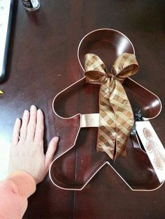 "Coppergifts:  15"" custom made gingerbread boy"