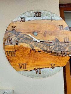 Cool Clocks, Unique Wall Clocks, Wooden Clock, Wooden Walls, Take You Home, Wood Resin, Art Decor, Home Decor, Epoxy