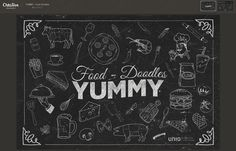 The kit includes 40 fully scalable food elements. Food Doodles, Web Design Trends, Fonts, Kit, Wallpaper, Creative, Designer Fonts, Types Of Font Styles, Wallpapers