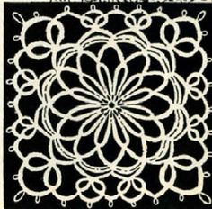 5012 Vintage Tatting PATTERN for Bowknot Medallion by BlondiesSpot, $1.99