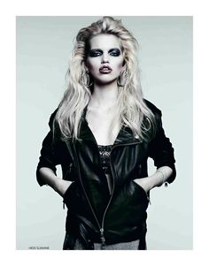 Dark Glamour: Daphne Groeneveld by Hedi Slimane for Vogue Russia April 2012