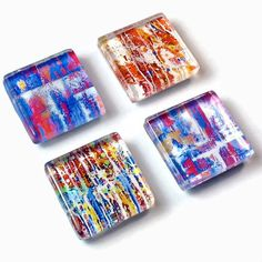 Kitchen Magnets,  Abstract Art Magnets, Gifts For Art  Lovers. $9.50, via Etsy.