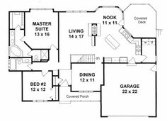 Plan # 1525 - Ranch | First floor plan