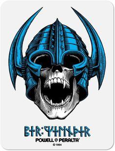 Powell Peralta Per Welinder Nordic Skull Sticker