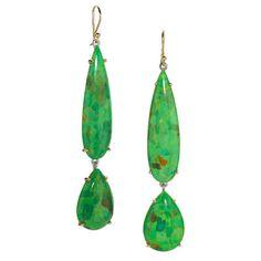 Elizabeth Showers Teardrop Earrings From Jewelry Day To Night Post Green Turquoise