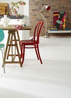 Artico White Floor Tile (topps tiles) or try Danxia white floor tile