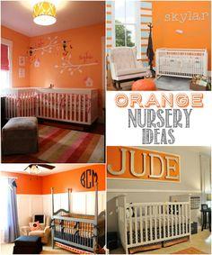 Colorful Orange Nursery Ideas featured on Design Dazzle