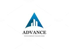 Advance Letter A Logo by XpertgraphicD on Creative Market Logo Design Template, Logo Templates, Logo Design Inspiration, Design Ideas, Letter Form, Personal Identity, Font Names, 26 Letters, Modern Logo