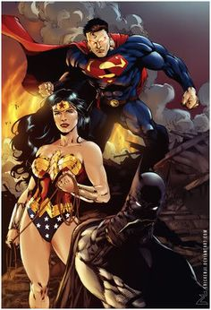 Wonder Woman, Superman, & Batman