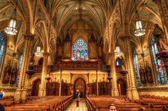 Shrine Church of St. Stanislaus in Cleveland, Ohio. This historic Polish cathedral was constructed in the late 1800s.