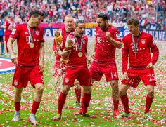 Bayern Munich party - German Champions 2014/2015