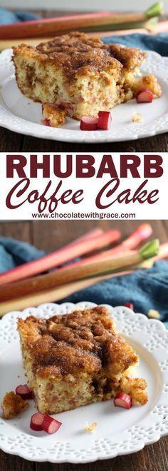 Double crumb rhubarb coffee cake