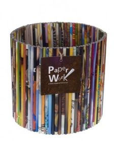 Israeli company makes these out of recycled magazines. I have one. It's awesome. Best part - the writing on the magazines is in hebrew!