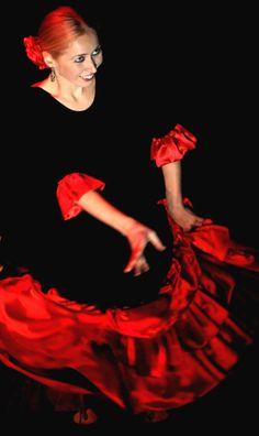 Flamenco. Classic red and black. Alegría.