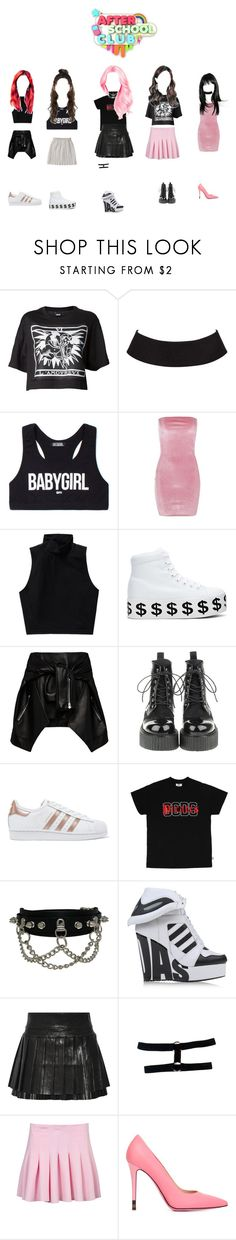 """TOXIC GIRLS  -AFTER SCHOOL CLUB"" by dark-unicorn-980 ❤ liked on Polyvore featuring Kokon To Zai, VFiles, Boohoo, Talula, Jeffrey Campbell, Magda Butrym, adidas Originals, adidas, Isabel Marant and Fendi"