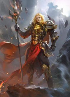 Répertoire Image Fantasy - Page 305 Fantasy Warrior, Fantasy Male, Fantasy Rpg, Medieval Fantasy, High Fantasy, Dnd Characters, Fantasy Characters, Female Characters, Fantasy Artwork