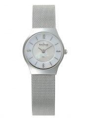 Skagen Silver Tone Steel Mesh Ladies Watch