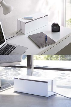 Buy the Cable Tidy Storage Box - Web from Yamazaki today! A part of our Gifts for Him range. Desk Tidy, Desk Cable Tidy, Desktop Organization, Home Office, My House, New Homes, Organisers, Storage, Box