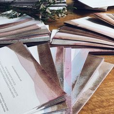 Unique wedding invitations for unique guests. Dip-dyed in fruit and vegetable juice. #weddingstationery