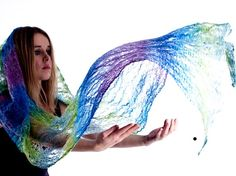 Handmade Cobweb felted scarf The Wings Of The Sea by jdackyte, $90.00