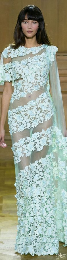 I would love this if it was lined. Mesh is not my thing. Spring 2016 Haute Couture Georges Chakra