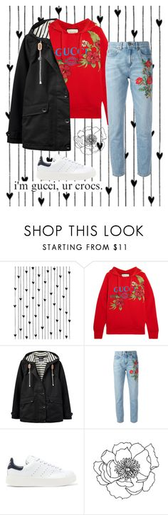 """gucci"" by jibootycalls ❤ liked on Polyvore featuring Camp, Gucci, Joules, adidas Originals, outfit, kpop, gucci, expensive and taehyung"