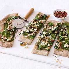 Swap in arugula if you like -- simply cook the crust a minute or two more and the topped pizza a minute or two less.