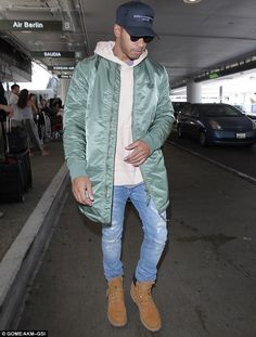 Flying under the radar? The usually sartorially flamboyant Lewis Hamilton opted for a low-...