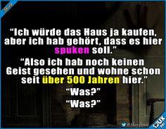 Ganz bestimmt kein Geisterhaus #Witze #Sprüche #Humor #lachen #Memes