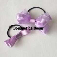 ハンドメイドアクセサリーショップ♡ラベンダーのリボンゴム♡lavender ribbon now