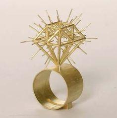 Ring | Philip Sajet. 'Cactus'.  Gold