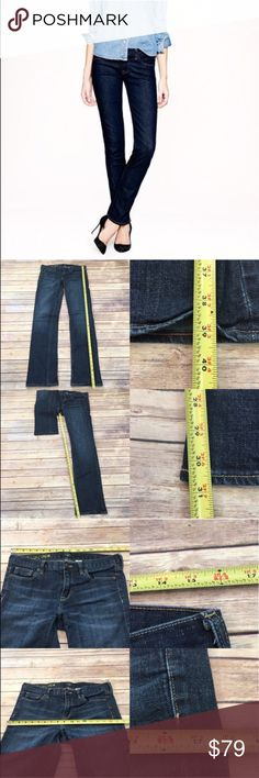 🏵Sz 30 J Crew Matchstick Dark Wash Slim Leg Jeans Measurements are in photos. Normal wash wear, no flaws. F3  I do not comment to my buyers after purchases, due to their privacy. If you would like any reassurance after your purchase that I did receive your order, please feel free to comment on the listing and I will promptly respond.   I ship everyday and I always package safely. Thank you for shopping my closet! J. Crew Jeans Skinny
