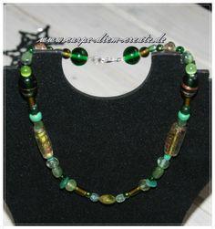 Perlen-Mix -Kette * Dschungel* von Carpe diem create auf DaWanda.com