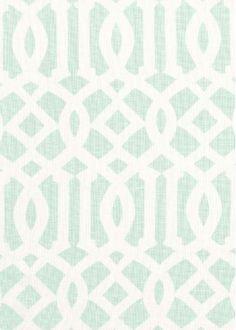 Schumacher Fabric - Imperial Trellis II -Mineral - $137.99 Per Yad  #interiors #decor #design #home #trellis #green #living #room #bedroom #trend #style #mint #pattern #geometric