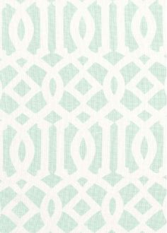 Schumacher Fabric - Imperial Trellis II -Mineral - $137.99 Per Yad  #interiors #decor #design #home #trellis #green #living #room #bedroom #trend #style #mint #pattern #geometric