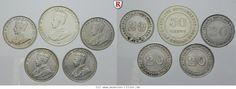 RITTER Straits Settlements, George V., Satz, 5 Münzen, Silber #coins