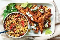 Portuguese-style chicken with rice Gluten Free Recipes gluten free 2 minute noodles coles Chicken Rice Recipes, Healthy Chicken, Chicken Meals, Creamy Chicken, Midweek Meals, Weeknight Meals, Slow Cooker, Diet Recipes, Healthy Recipes