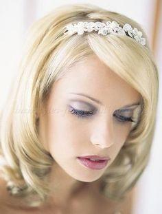 wedding hairstyles for medium length hair - medium length bridal ...
