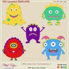 Little Monsters Layered TEMPLATES 2 #CUdigitals cudigitals.com cu commercial digital scrap #digiscrap scrapbook graphics