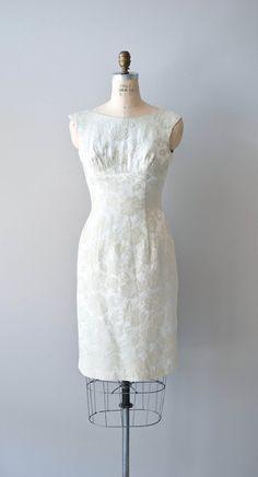 vintage 60s damask dress