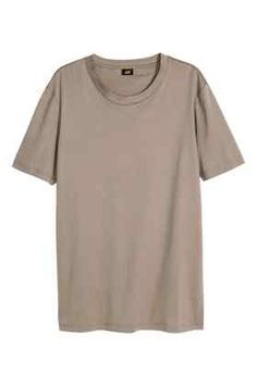 T-shirt en coton pima et soie