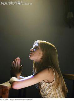 praying children images | Girl Praying in Church [42-18239067] > Stock Photos | Royalty Free ...