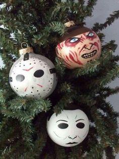 .Bring Halloween into CHRISTMAS ornaments!!